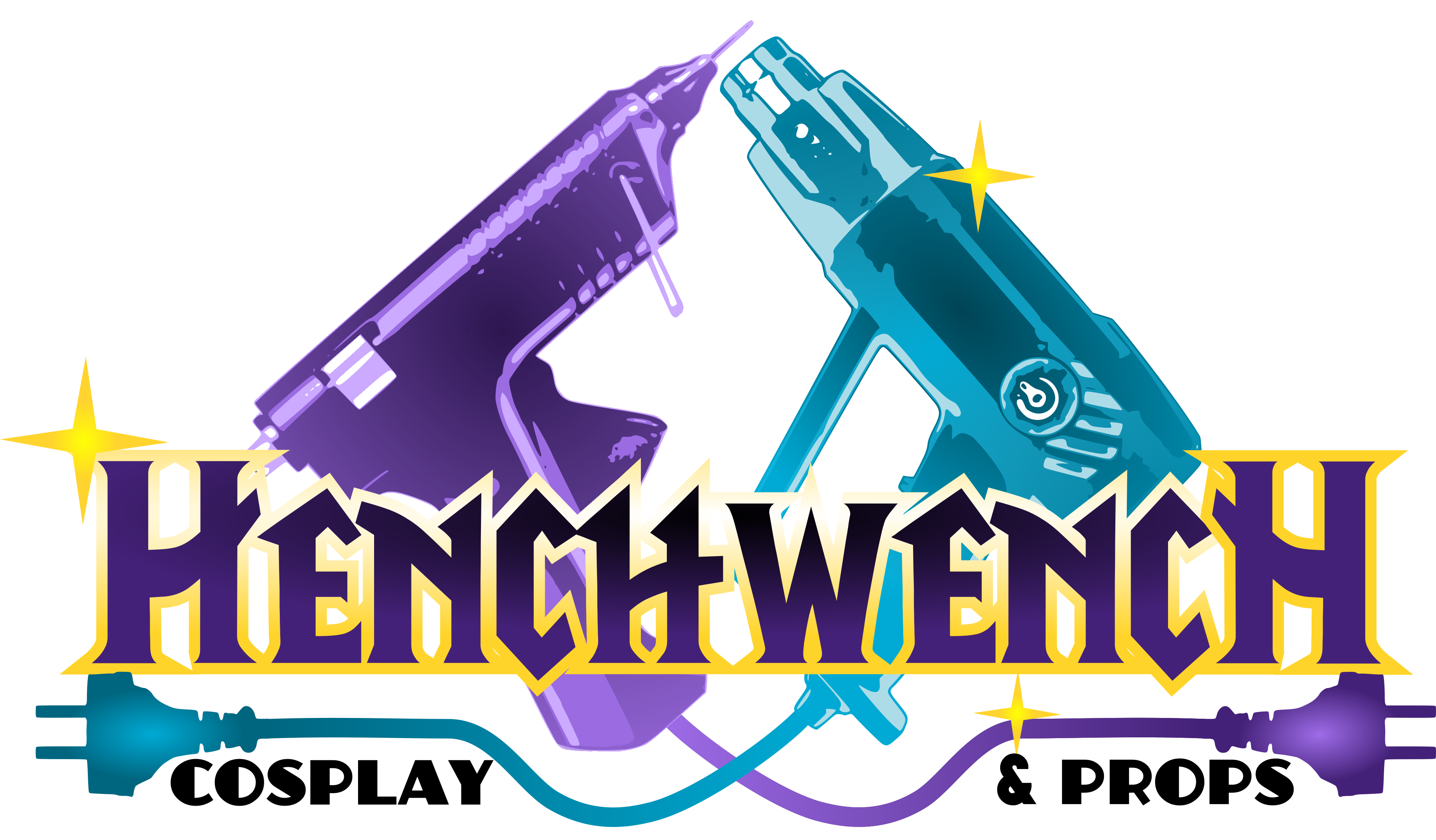 Henchwench Alternate Logo Sparkles lettering